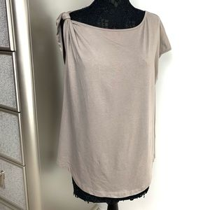 Universal Standard 14/16 Taupe Jersey Knotted Top